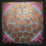 曼荼羅アート「母の誕生日に」|Mandala art