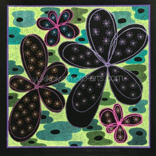 曼荼羅アート「幸せいっぱいの花」