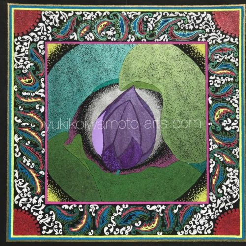 曼荼羅アート「紫の蓮」|Mandala art