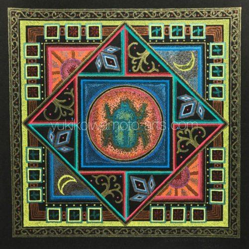 曼荼羅アート「再創造」|Mandala art