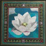 曼荼羅アート「白い蓮」