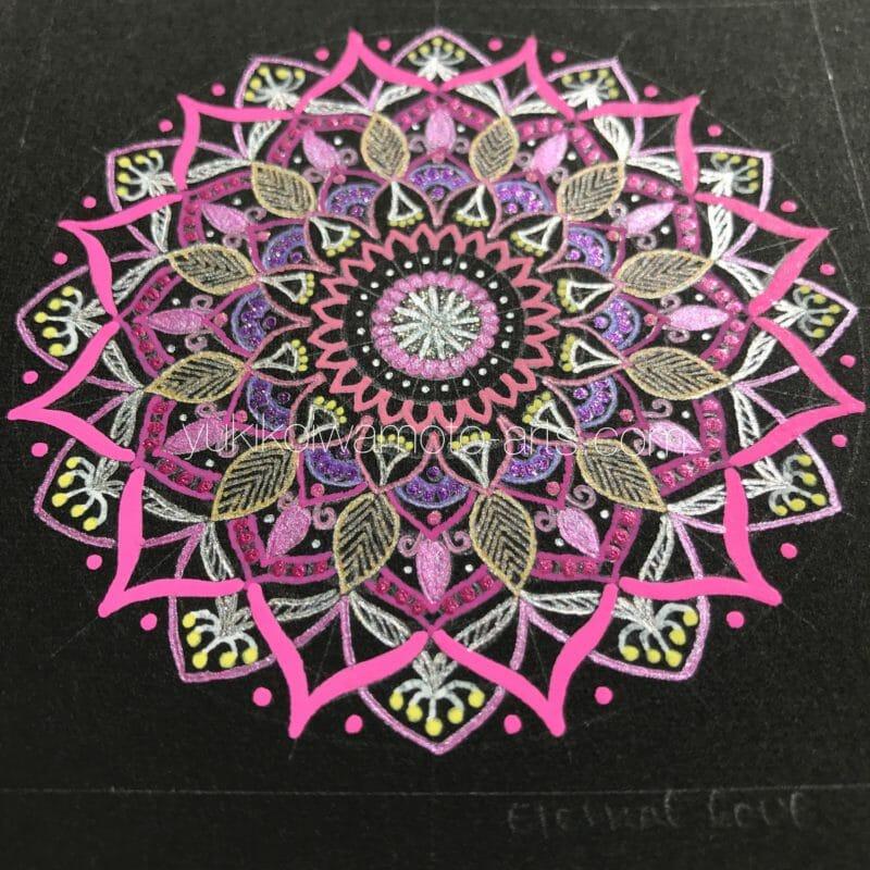 曼荼羅アート「永遠の愛」