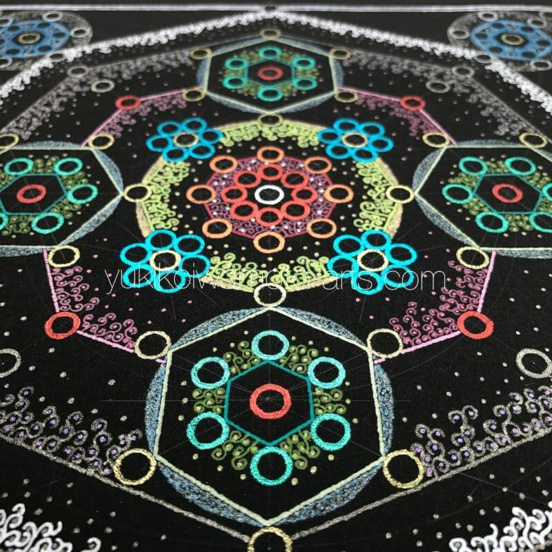 曼荼羅アート「幸運X3」