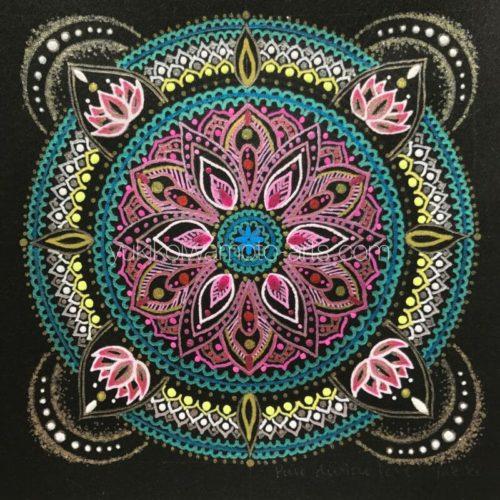 曼荼羅アート「純粋な神聖な愛」|Mandala art