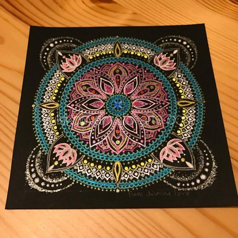 オーダー曼荼羅アート純粋な神聖な愛の完成品