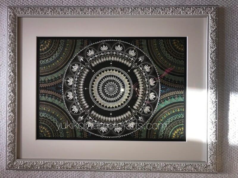 曼荼羅アート「白多羅菩薩」