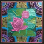 mandala art pink lotus