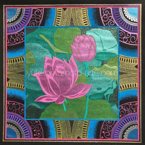 曼荼羅アート「ピンクの蓮」