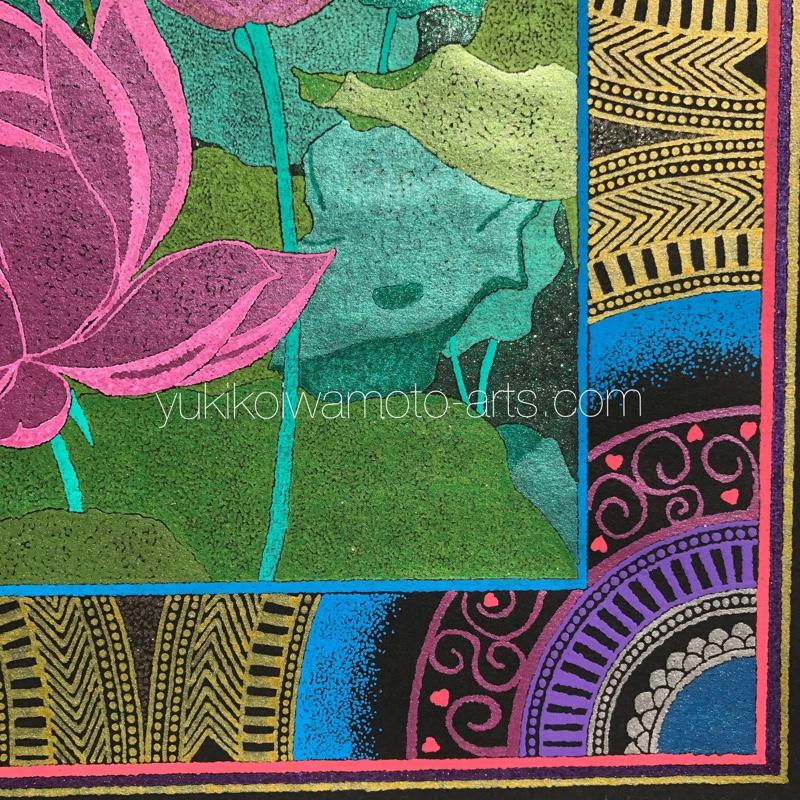 right bottom image of mandala art pink lotus