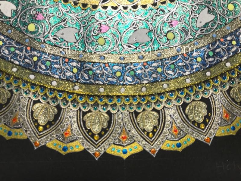 the edge image of mandala art holy grail