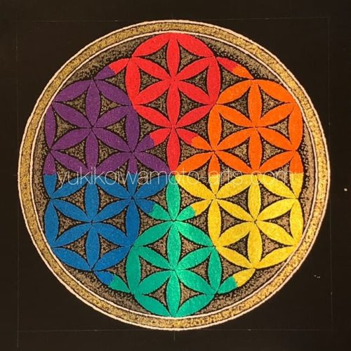 点描曼荼羅アート「フラワー・オブ・ライフ」【神聖幾何学】