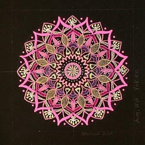 曼荼羅アート「永遠の愛」|Mandala art