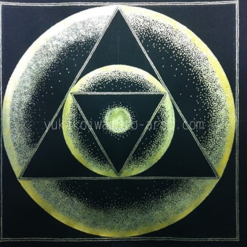 点描曼荼羅アート「ある天使のエネルギー トライアングルの形」【神聖幾何学】|Mandala art