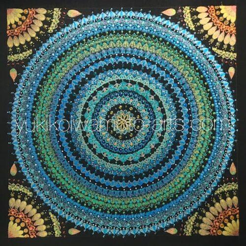 曼荼羅アート「母なる地球と太陽」|Mandala art