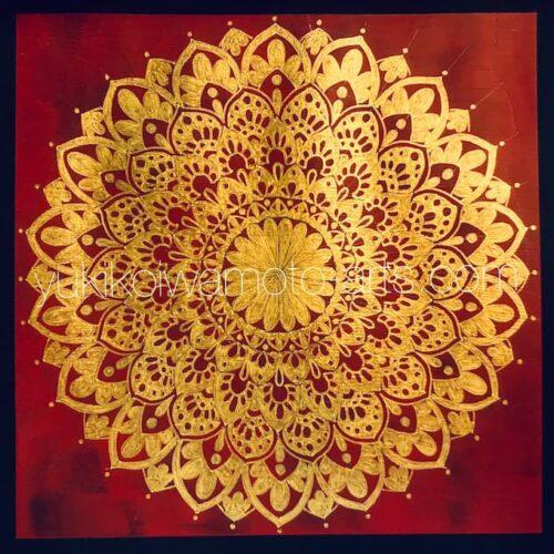 曼荼羅アート「太陽礼拝」|Mandala art