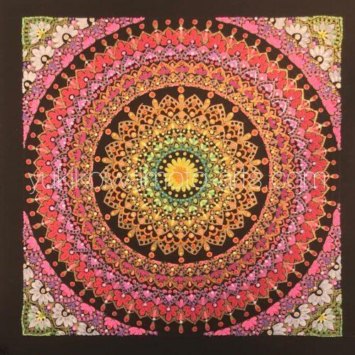 曼荼羅アート「咲き誇る」|Mandala art