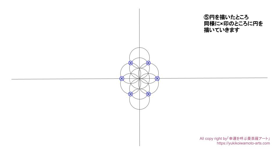 Flower of life drawing process-4