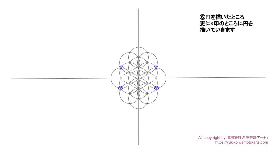 Flower of life drawing process-5