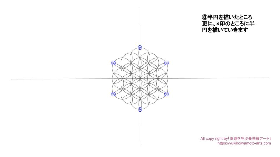 Flower of life-7-drawing process