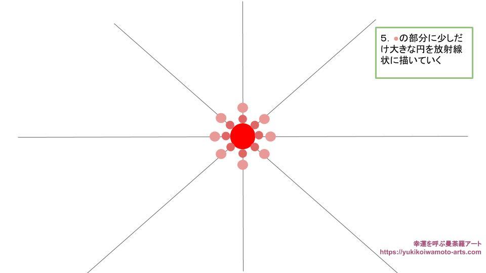 radial dot mandala drawing process 3