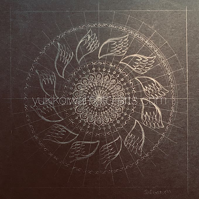 "mandala art ""salvation"" drawing process 1"