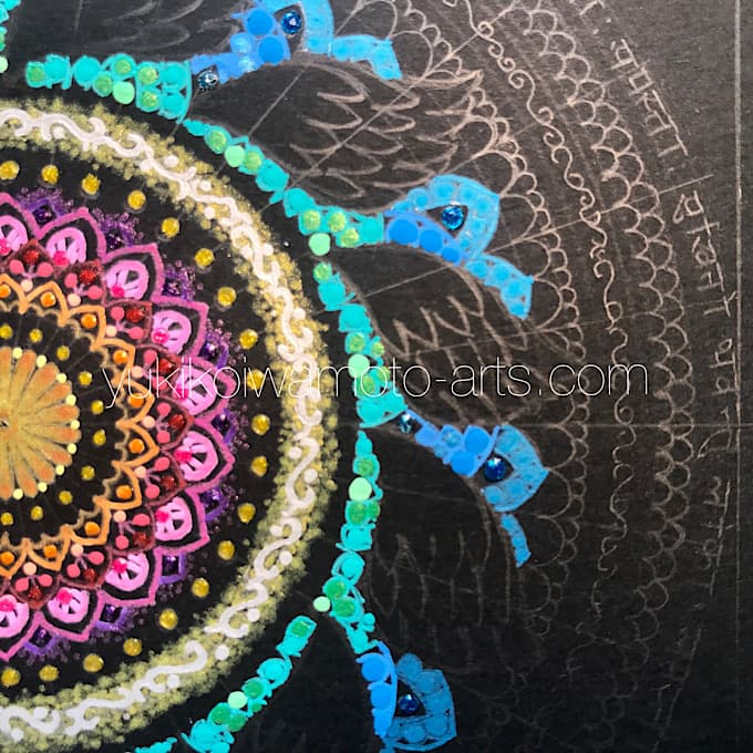 "mandala art ""salvation"" drawing process 5"