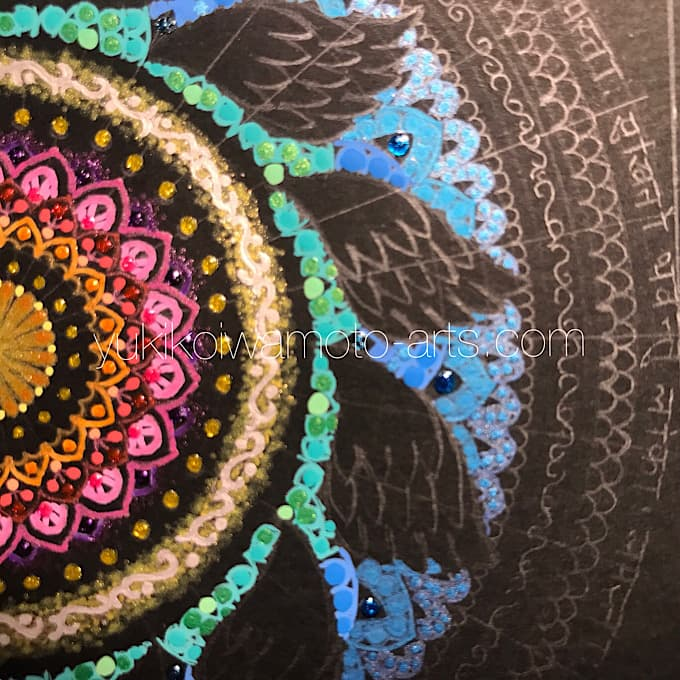 "mandala art ""salvation"" drawing process 6"