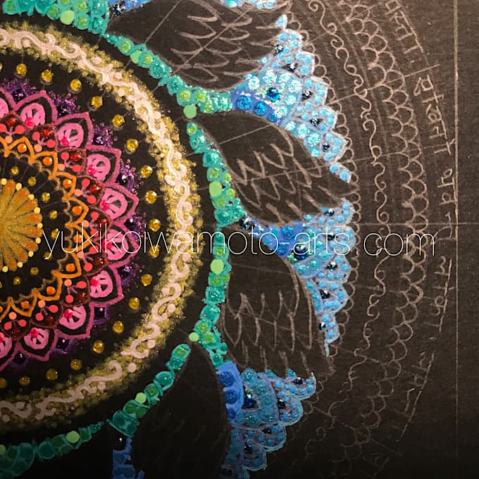 "mandala art ""salvation"" drawing process 7"