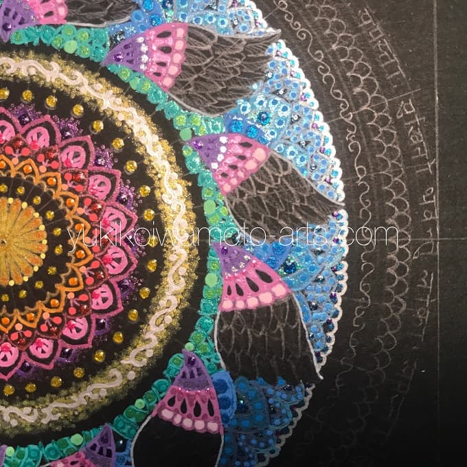 "mandala art ""salvation"" drawing process 8"