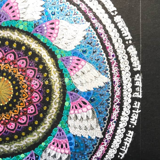 "mandala art ""salvation"" drawing process 12"