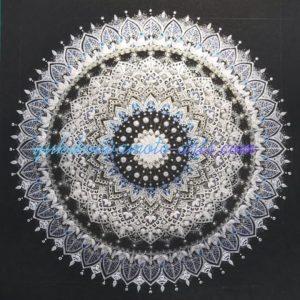 mandala art with signature blue