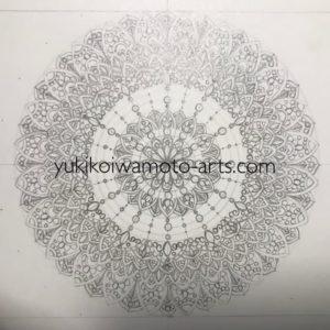 mandala art prayer draft process -2