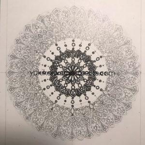 mandala art prayer drawing process -4