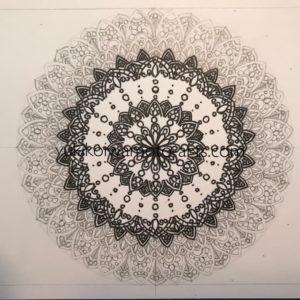 mandala art prayer drawing process -3