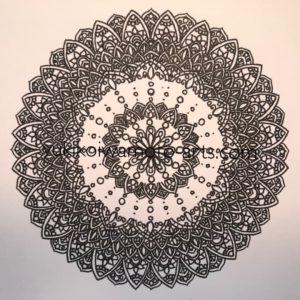 mandala art prayer drawing process -5