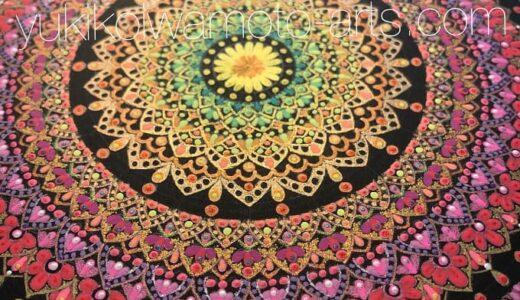 曼荼羅アート「咲き誇る」作画工程