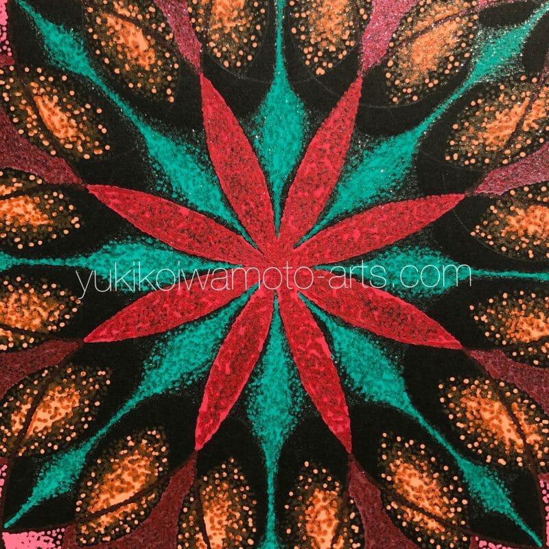 曼荼羅アート「火の元素」