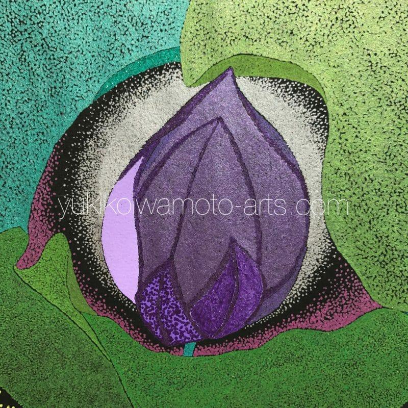 曼荼羅アート「紫の蓮」