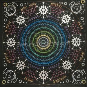 曼荼羅アート「水の元素」