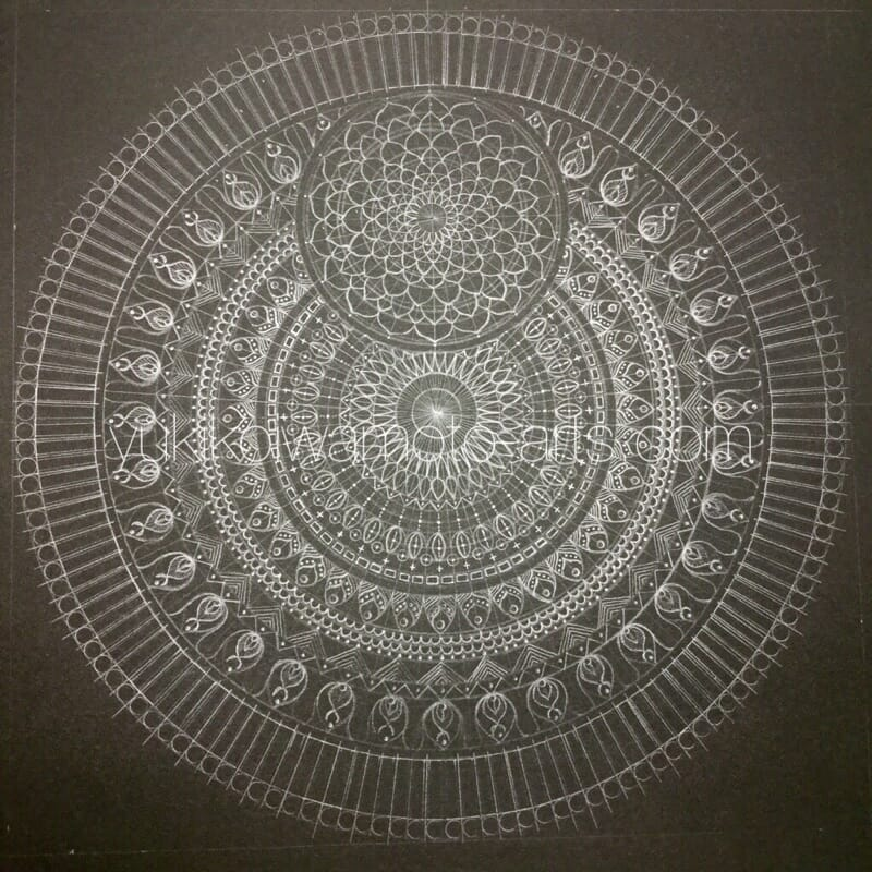 曼荼羅アート「不死鳥」