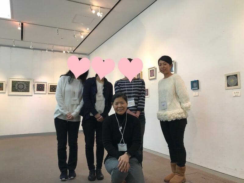 2018年曼荼羅アート展メンバー達と