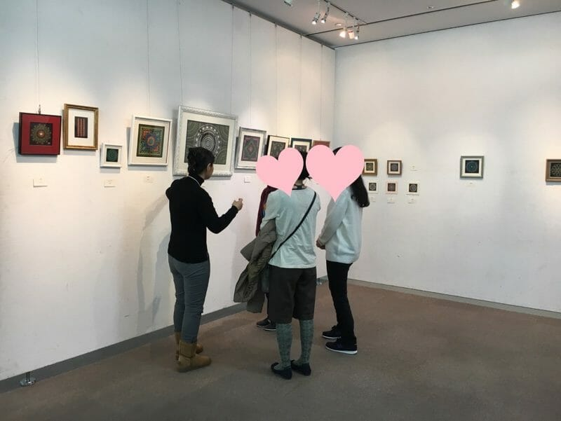 2018年曼荼羅アート展説明風景